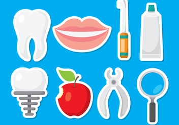 Fun Dentista Icons - vector gratuit #419753