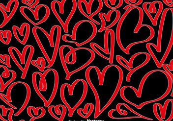 Vector Collection Of Hand Drawn Hearts - vector gratuit #419763