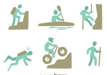 Extreme Sports Vector Sets - Kostenloses vector #419823