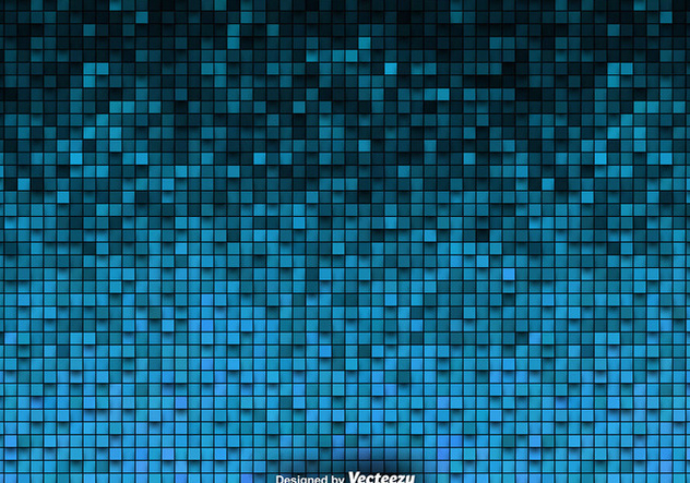 Tiled Background Vector Blue Tiles - Free vector #419953