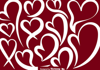 Vector Abstract Heart Shapes - vector gratuit #419983