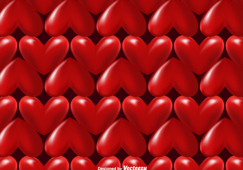 Vector 3d Hearts Seamless Pattern - Free vector #419993