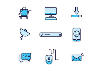 Free Internet Icons - vector #420043 gratis