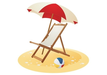 Beach Chair Vector - Free vector #420073
