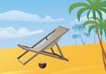 Free Illustration Of Deck Chair - бесплатный vector #420083