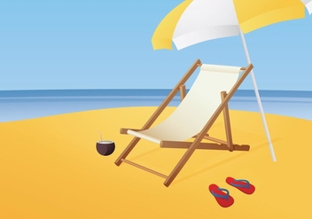 Free Illustration Of Beach chair vector - бесплатный vector #420093