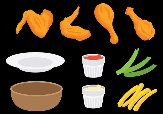 Free Buffalo Wings Icons Vector - vector gratuit #420163