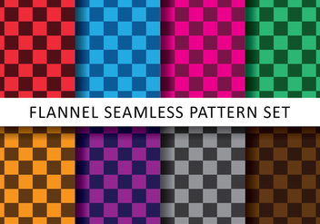 Colorful Checkered Flannel Vectors - vector gratuit #420173