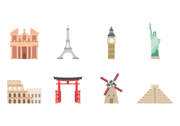 Free Landmark Icons - vector #420263 gratis