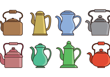 Set Of Teapot Icons - vector #420273 gratis