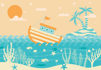 Seabed Background Vector - Free vector #420343