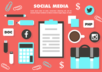 Free Social Media Vector Elements - Kostenloses vector #420483