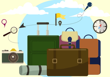Free Travel Time Vector Illustration - Free vector #420493