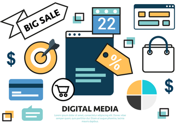 Free Flat Sale Marketing Concept Vector - Kostenloses vector #420573