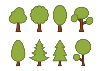 Trees Vector Pack - Kostenloses vector #420643
