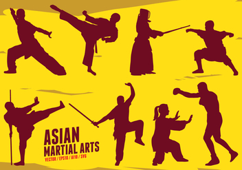 Asian Martial Arts - Free vector #420693