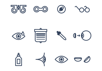Set of Eye Icons - Free vector #420733