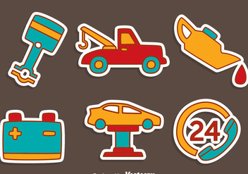 Hand Drawn Car Service Vector - бесплатный vector #420763