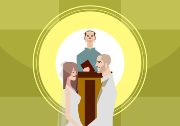 Wedding Ceremony Illustration - Free vector #420783