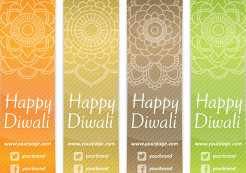 Diwali Bookmarks - vector gratuit #420873