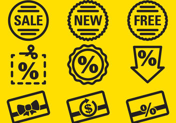 Percent Labels Icons - Free vector #420903