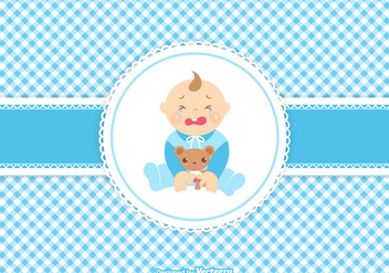 Vector Cute Crying Baby Boy - Free vector #420993