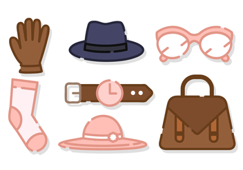 Cute Women Accessories Vector - vector gratuit #421023