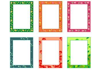Natural Potrait Funky Frames Free Vector - Kostenloses vector #421033