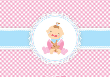 Cute Crying Baby Girl Vector - Free vector #421043
