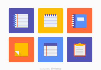 Colorful Block Notes Vector Set - vector gratuit #421073