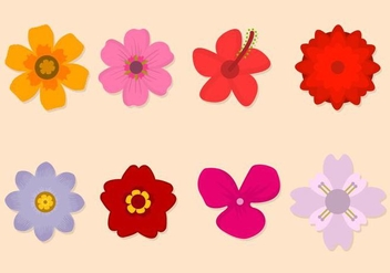 Free Flower Vector Collection - Kostenloses vector #421093