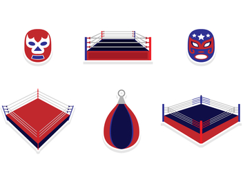 Wrestling Sticker Design - vector #421103 gratis