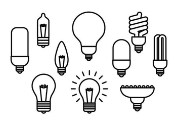 Free Light Bulb Line Icon Vector - Kostenloses vector #421273