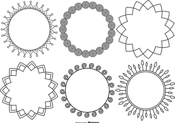 Funky Decorative Frame Collection - vector #421283 gratis