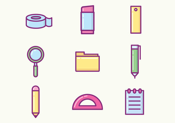 Free Stationery Icons - vector #421293 gratis