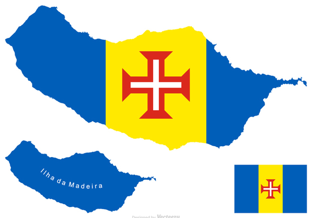 Madeira Vector Map And Flag - Kostenloses vector #421323