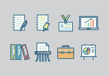 Free Office Icons Vectors - бесплатный vector #421373