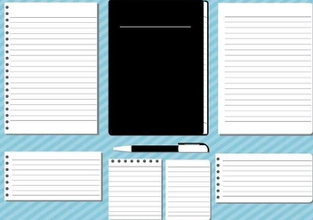 Block Notes Illustration Vector - vector #421393 gratis