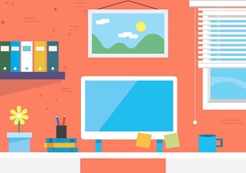Free Vector Workspace Illustration - vector #421423 gratis