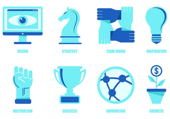 Set Of Business Icons - vector #421493 gratis