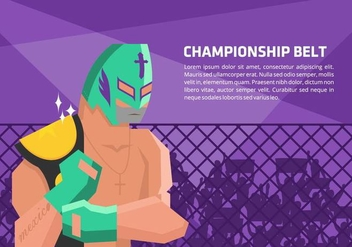 Lucha Libre Champion Vector Background - vector gratuit #421503