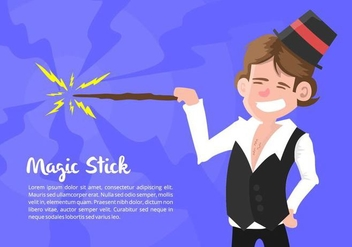 Magician Illustration - бесплатный vector #421513