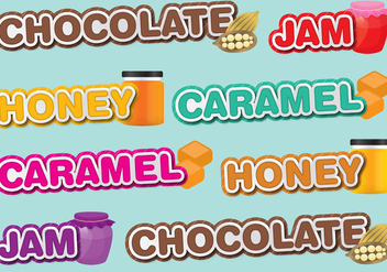 Sweet Titles - vector gratuit #421553