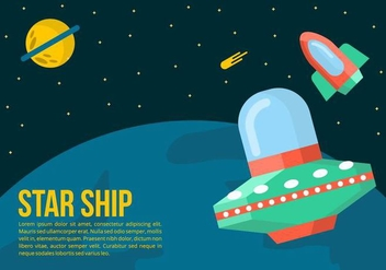 Starship Background - vector gratuit #421563