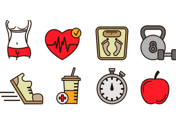 Icons Of Slimming and Health - vector gratuit #421583