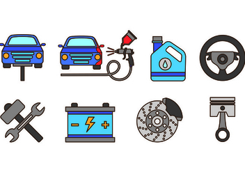 Set Of Auto Body Icons - vector #421593 gratis