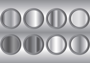 Metal Grey Gradient Icons Vector - vector #421663 gratis