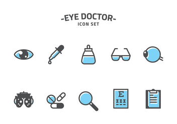 Eye Doctor Icon Set Vector - Free vector #421703