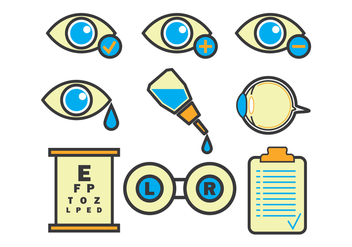Eye Doctor Vector Icons - vector #421723 gratis