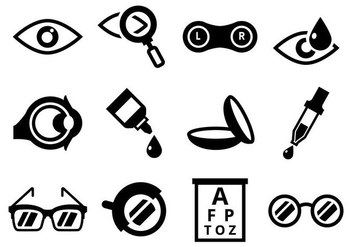 Free Optometry Icons Vector - Free vector #421743